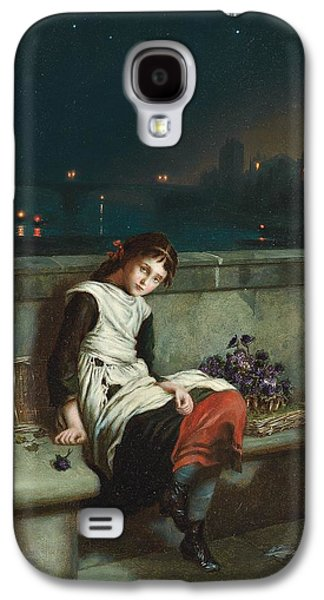 Innocence Paintings Galaxy S4 Cases - From Morn Til Night Galaxy S4 Case by Augustus Mulready