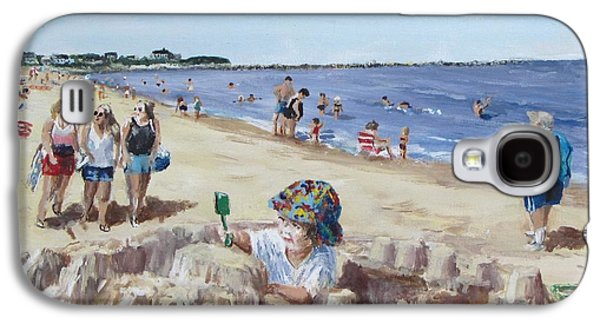 Sand Castles Paintings Galaxy S4 Cases - From Sandcastles to College Galaxy S4 Case by Jack Skinner