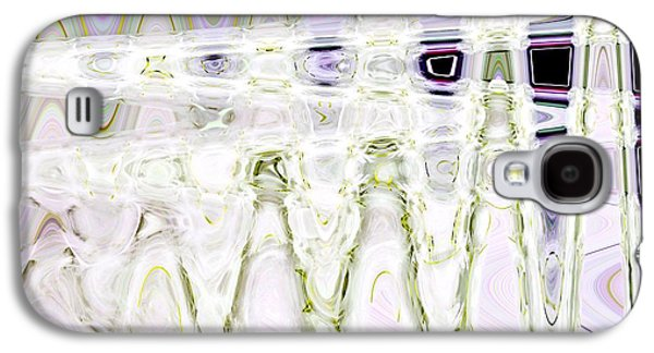 Abstract Digital Paintings Galaxy S4 Cases - From White to Black Frequency Galaxy S4 Case by Barbara Chichester