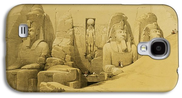 Front Elevation Of The Great Temple Of Aboo Simbel Galaxy S4 Case by David Roberts