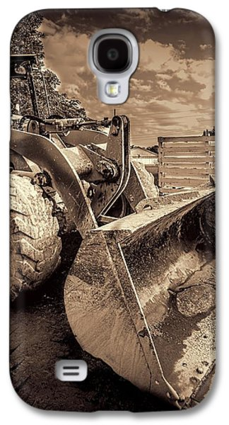Machinery Galaxy S4 Cases - Front loader-3 Galaxy S4 Case by Rudy Umans