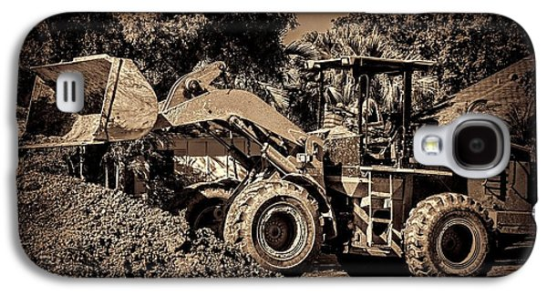 Machinery Galaxy S4 Cases - Front loader-6 Galaxy S4 Case by Rudy Umans
