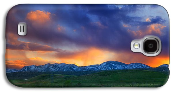 Landscape Metal Prints Galaxy S4 Cases - Front Range Light Show Galaxy S4 Case by Darren  White
