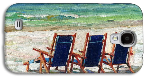 Empty Chairs Paintings Galaxy S4 Cases - Front Row Seats Galaxy S4 Case by Joseph M  Scott