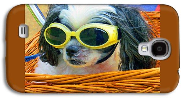 Puppy Digital Galaxy S4 Cases - Front Seat Driver - Puppy Mania Galaxy S4 Case by Ella Kaye Dickey