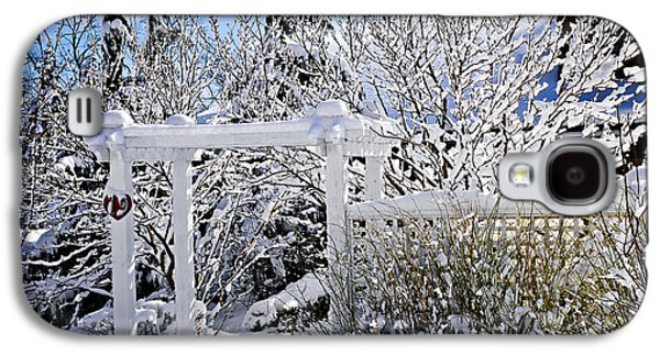 January Galaxy S4 Cases - Front yard of a house in winter Galaxy S4 Case by Elena Elisseeva