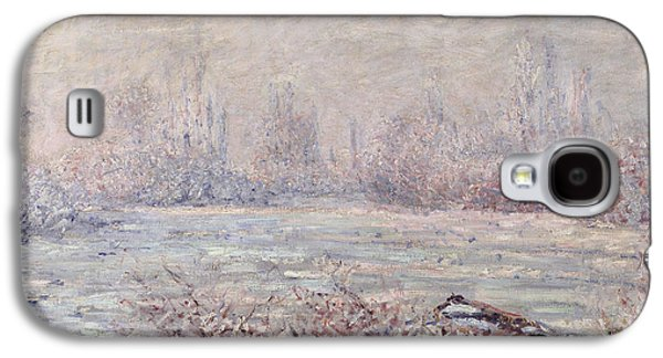 Slush Galaxy S4 Cases - Frost near Vetheuil Galaxy S4 Case by Claude Monet