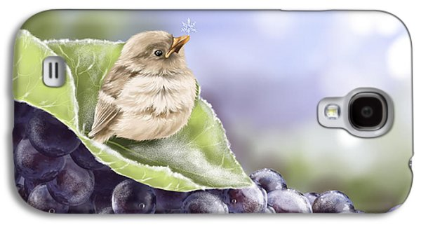 Grape Leaf Galaxy S4 Cases - Frost Galaxy S4 Case by Veronica Minozzi