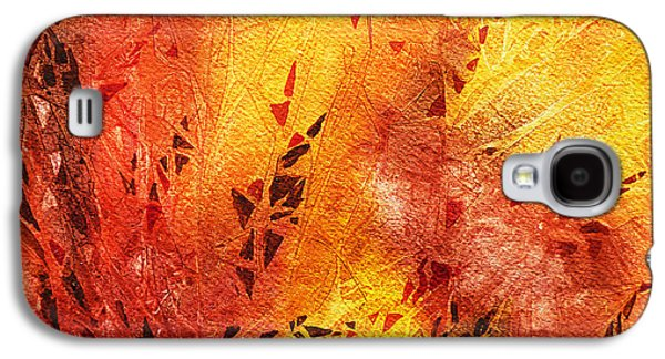 Abstract Movement Galaxy S4 Cases - Frosted Fire III Galaxy S4 Case by Irina Sztukowski