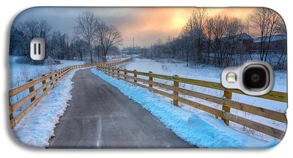 Indiana Scenes Galaxy S4 Cases - Frosty Monon Galaxy S4 Case by Alexey Stiop