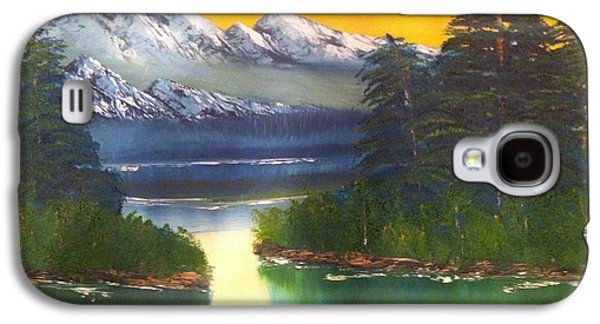 Bob Ross Paintings Galaxy S4 Cases - Frosty Peaks Galaxy S4 Case by Bill Murray
