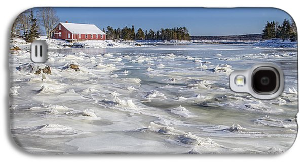 Maine Winter Galaxy S4 Cases - Frozen Galaxy S4 Case by Evelina Kremsdorf