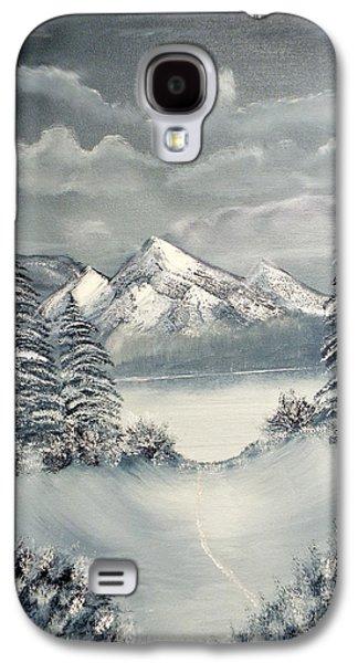 Bob Ross Paintings Galaxy S4 Cases - Frozen Mountain Galaxy S4 Case by Joyce Krenson