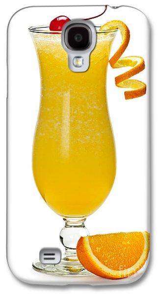 Juice Galaxy S4 Cases - Frozen orange drink Galaxy S4 Case by Elena Elisseeva