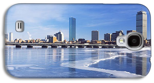 Charles River Galaxy S4 Cases - Frozen Over Charles River With Harvard Galaxy S4 Case by Panoramic Images