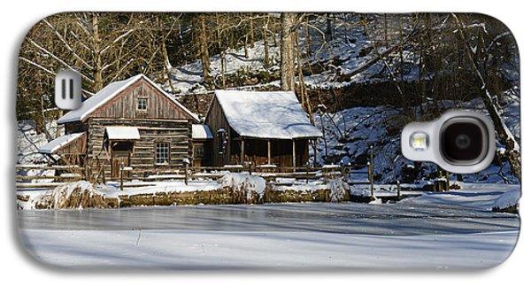 Winter Road Scenes Galaxy S4 Cases - Frozen Pond  Galaxy S4 Case by Paul Ward