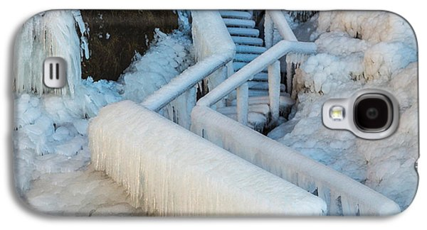 Landscapes Photographs Galaxy S4 Cases - Frozen Staircase By Seljalandsfoss Galaxy S4 Case by Panoramic Images