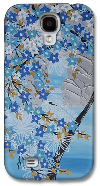 Catherine White Paintings Galaxy S4 Cases - Frozen Tree Galaxy S4 Case by Cathy Jacobs