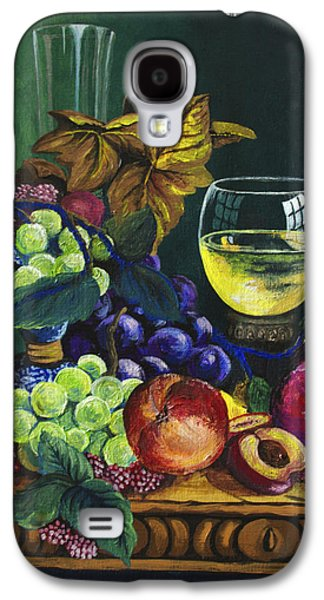 Wine Reflection Art Galaxy S4 Cases - Fruit and Wine Galaxy S4 Case by Karon Melillo DeVega