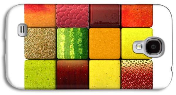 Fruit Cubes Galaxy S4 Case by Allan Swart