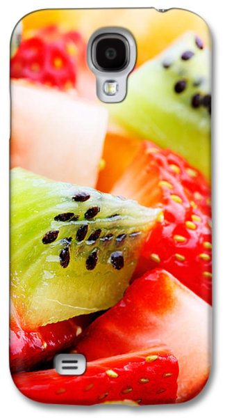 Healthy Galaxy S4 Cases - Fruit salad macro Galaxy S4 Case by Johan Swanepoel