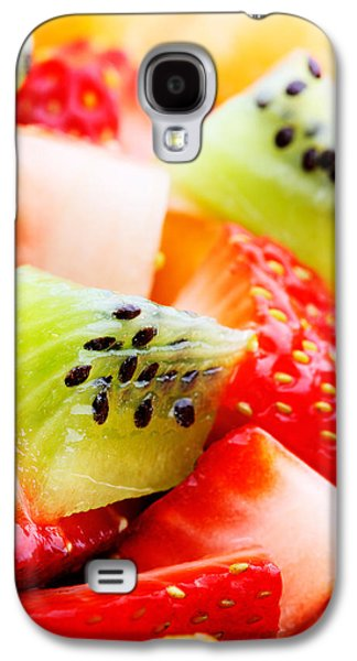 Orange Photographs Galaxy S4 Cases - Fruit salad macro Galaxy S4 Case by Johan Swanepoel
