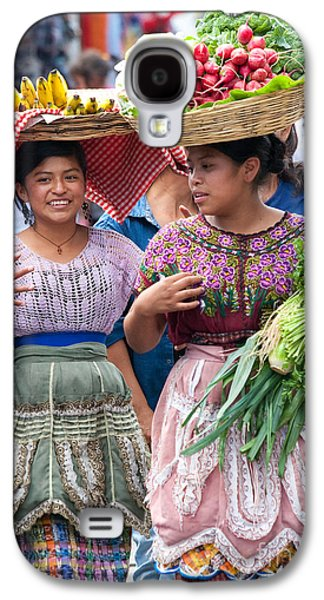 Interface Galaxy S4 Cases - Fruit Sellers in Antigua Guatemala Galaxy S4 Case by David Smith