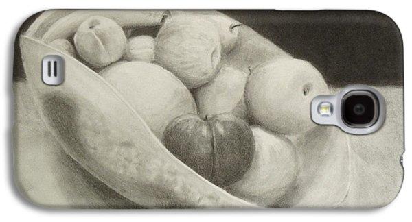 Plum Drawings Galaxy S4 Cases - Fruit Vase Galaxy S4 Case by Anna Starkova
