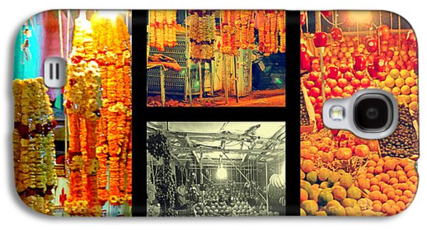 Metal Prints Pyrography Galaxy S4 Cases - Fruites and Flowers for sale Galaxy S4 Case by Girish J