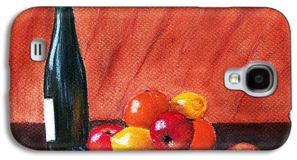 Still Life Pastels Galaxy S4 Cases - Fruits and Wine Galaxy S4 Case by Anastasiya Malakhova