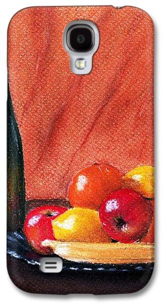 Interior Still Life Pastels Galaxy S4 Cases - Fruits and Wine Galaxy S4 Case by Anastasiya Malakhova