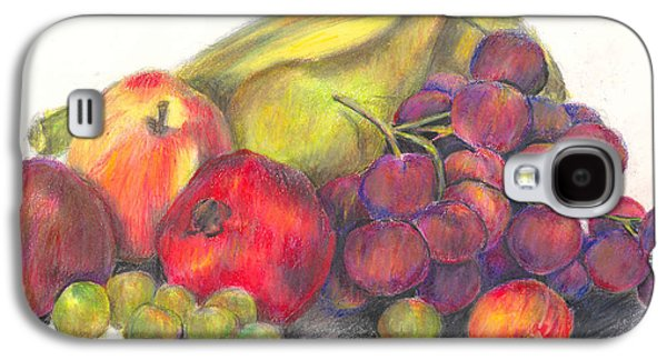 Plum Drawings Galaxy S4 Cases - Multiple Fruits Galaxy S4 Case by Connie Thomas