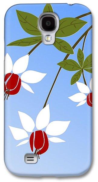 Plants Galaxy S4 Cases - Fuchsia Galaxy S4 Case by Anastasiya Malakhova