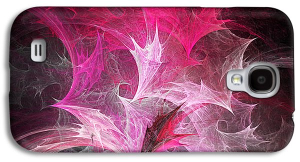 Abstract Digital Mixed Media Galaxy S4 Cases - Fuchsia Fountain Abstract Galaxy S4 Case by Andee Design