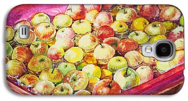 Harvest Art Galaxy S4 Cases - Fuji Apples in the Water Galaxy S4 Case by Irina Sztukowski