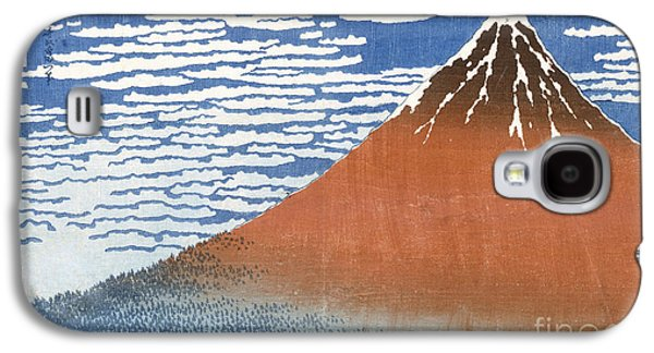 Slush Galaxy S4 Cases - Fuji Mountains in clear Weather Galaxy S4 Case by Hokusai