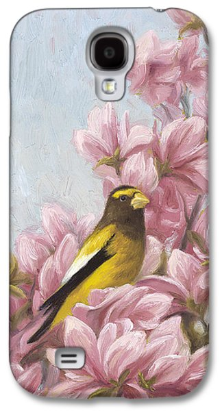 Evening Paintings Galaxy S4 Cases - Full-Bloom Galaxy S4 Case by Lucie Bilodeau