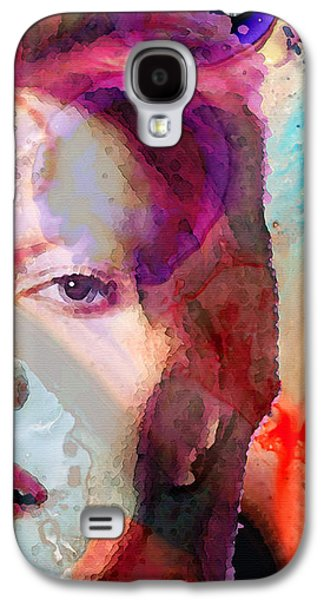 Music Mixed Media Galaxy S4 Cases - Full Color - David Bowie Art Galaxy S4 Case by Sharon Cummings