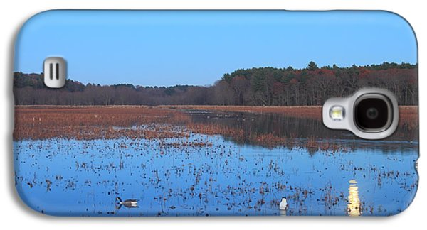 Full Moon At Great Meadows National Wildlife Refuge Galaxy S4 Case by John Burk
