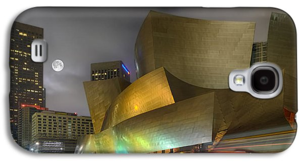 Robert Jensen Galaxy S4 Cases - Full Moon Disney Concert Hall Galaxy S4 Case by Robert Jensen
