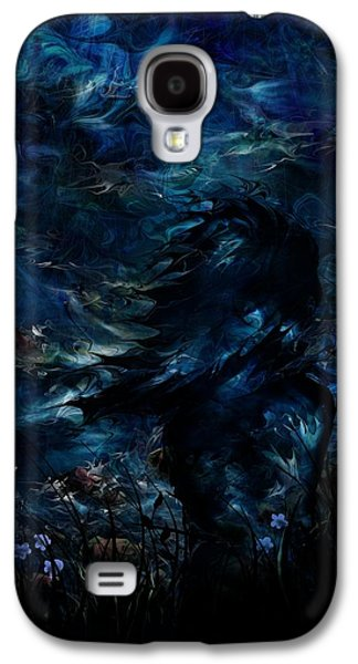 Sea Moon Full Moon Galaxy S4 Cases - Full Moon Galaxy S4 Case by Rachel Christine Nowicki