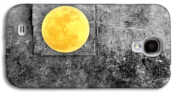 Photo Manipulation Galaxy S4 Cases - Full Moon Galaxy S4 Case by Rebecca Sherman