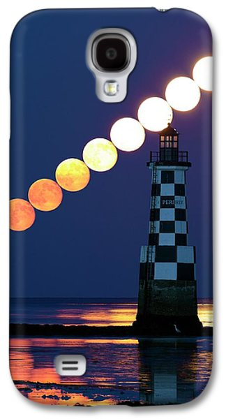 Full Moon Rising Over Lighthouse Galaxy S4 Case by Laurent Laveder