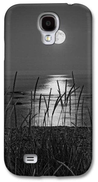 Coastline Digital Art Galaxy S4 Cases - Full Moon Seawall Beach Acadia National Park Galaxy S4 Case by Keith Webber Jr