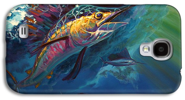 Flyfishing Galaxy S4 Cases - Full Sail Galaxy S4 Case by Savlen Art