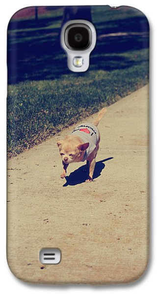 Dog Walking Galaxy S4 Cases - Full Speed Ahead Galaxy S4 Case by Laurie Search
