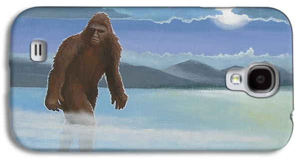 Creepy Paintings Galaxy S4 Cases - Fullmoon Squatch Galaxy S4 Case by Stuart Swartz