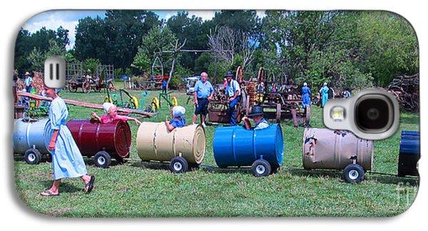 Amish Community Photographs Galaxy S4 Cases - Fun Fun Fun Galaxy S4 Case by Tina M Wenger