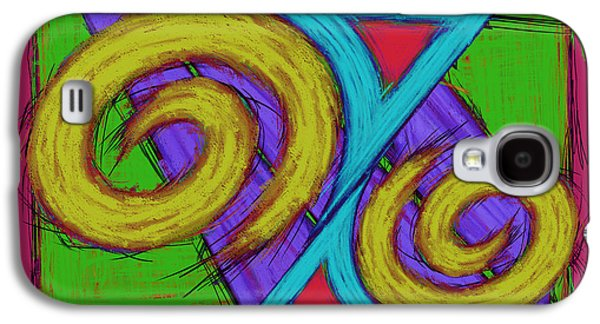 Loose Style Digital Art Galaxy S4 Cases - Fun shaper Galaxy S4 Case by Keith Mills