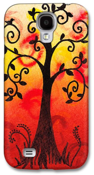 Bold Style Galaxy S4 Cases - Fun Tree Of Life Impression III Galaxy S4 Case by Irina Sztukowski